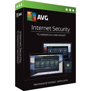 Obrázek AVG Internet Security 2020, licence pro nového uživatele, počet licencí 1, platnost 1 rok